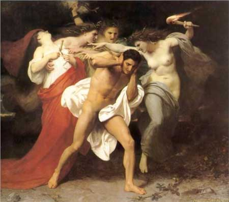 Orestes Pursued by the Furies (1862) - Adolphe-William Bouguereau