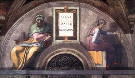 The Ancestors of Christ: David, Solomon - Michelangelo