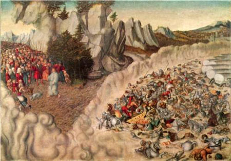 Sinking Of The Pharaoh In The Red Sea - Lucas Cranach the Elder