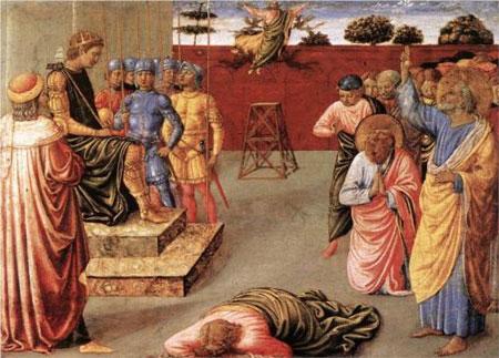 Fall of Simon Magus - Benozzo Gozzoli