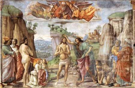 Baptism of Christ - Domenico Ghirlandaio