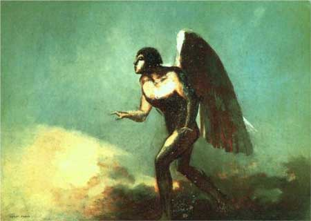 The Winged Man (The Fallen Angel) - Odilon Redon