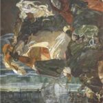 Flight of Faust and Mephisto - Mikhail Vrubel
