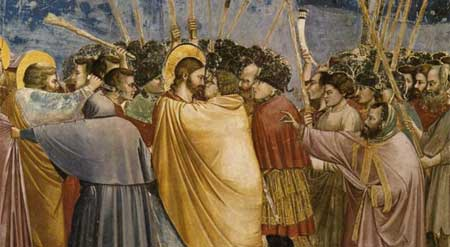 The Arrest of Christ (Kiss of Judas) - Giotto