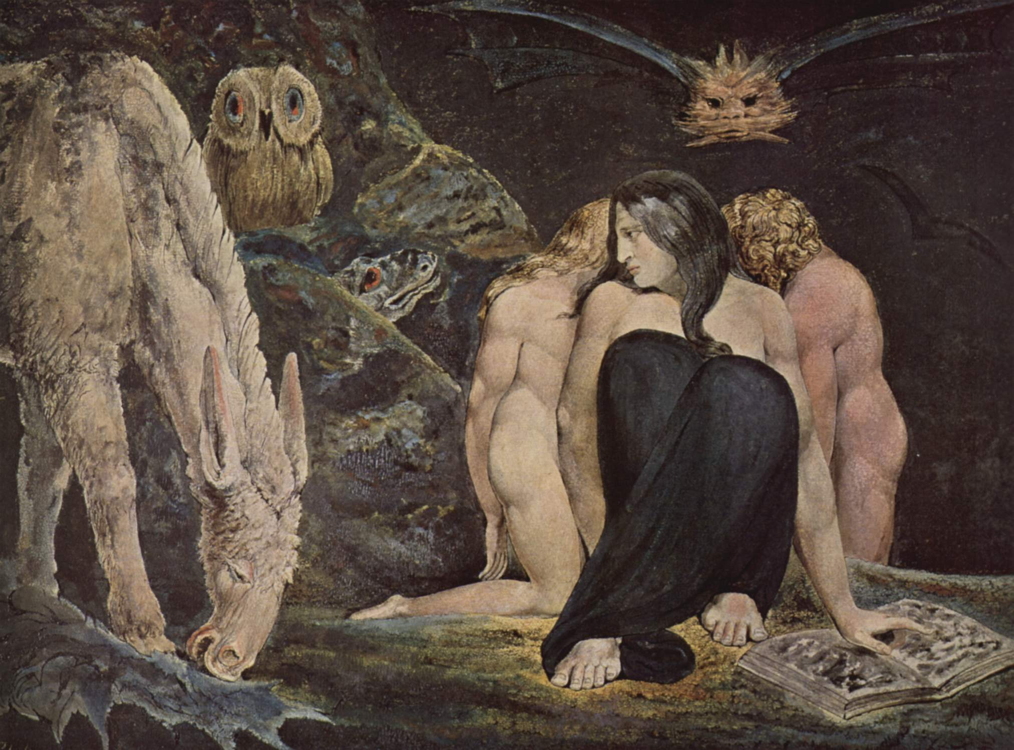 Hecate The Night of Enitharmon`s Joy by William Blake (1795)