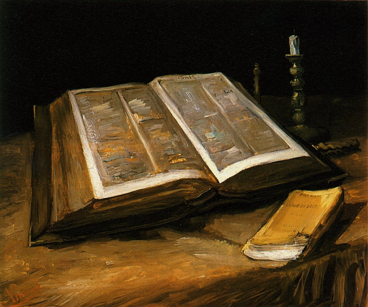 Still Life with Bible by Vincent van Gogh (1885)