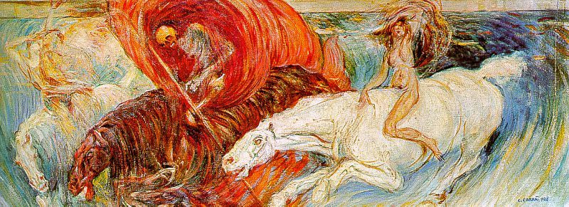 The Horsemen of the Apocalypse by Carlo Carra (1908 - Public Domain US)